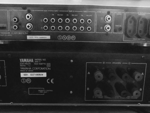 Back of Yamaha CX-1/MX-1.