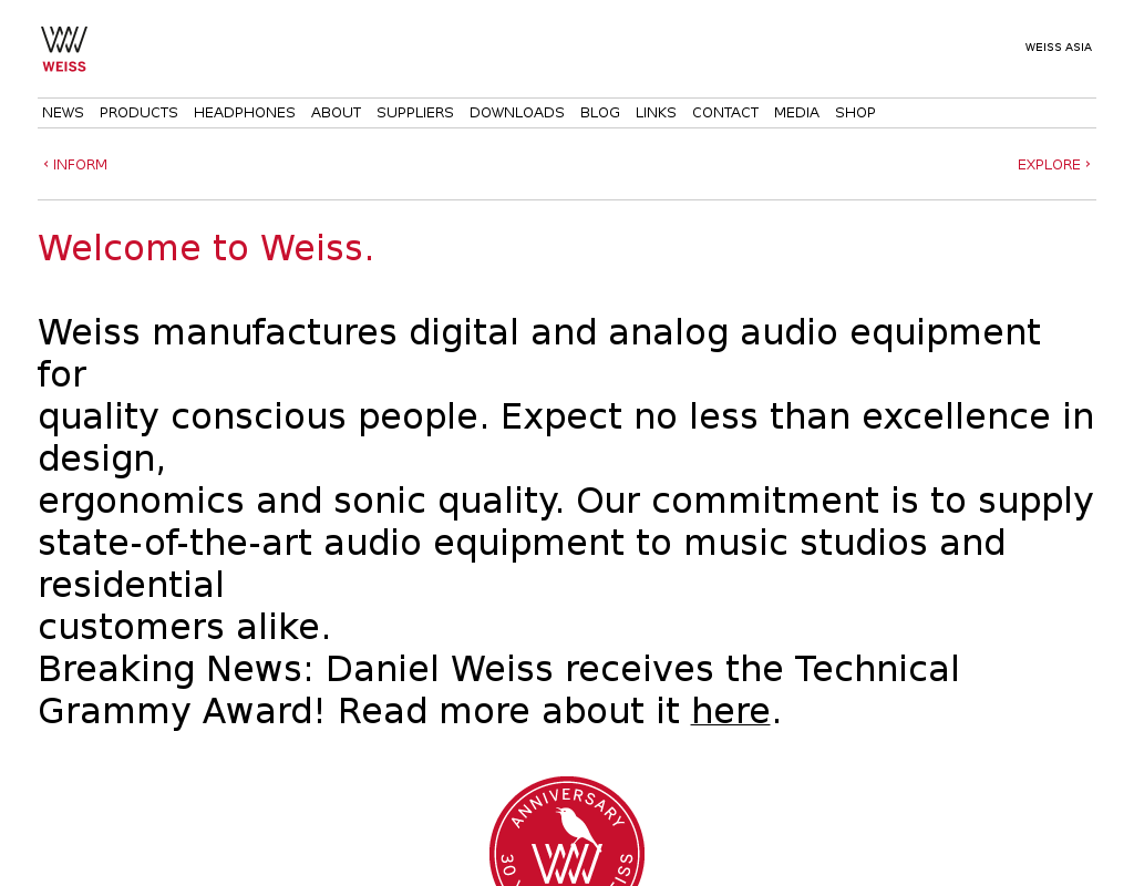 Weiss homepage