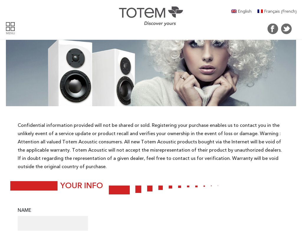 Totem Acoustics homepage