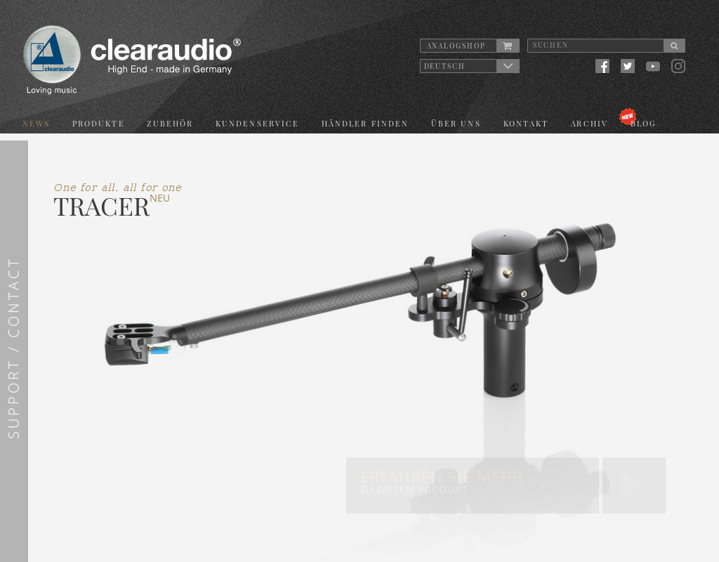 Clearaudio homepage
